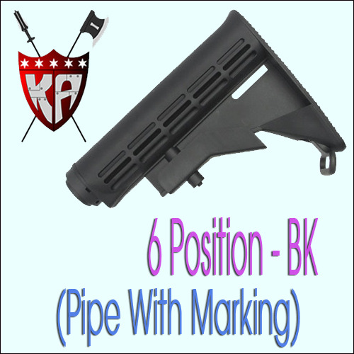 6 Position Stock - BK (Pipe With Marking)