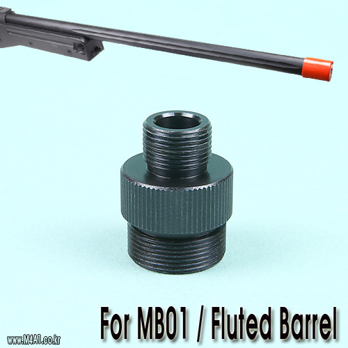 MB01 Fluted Barrel Adapter (-14mm) / Steel CNC