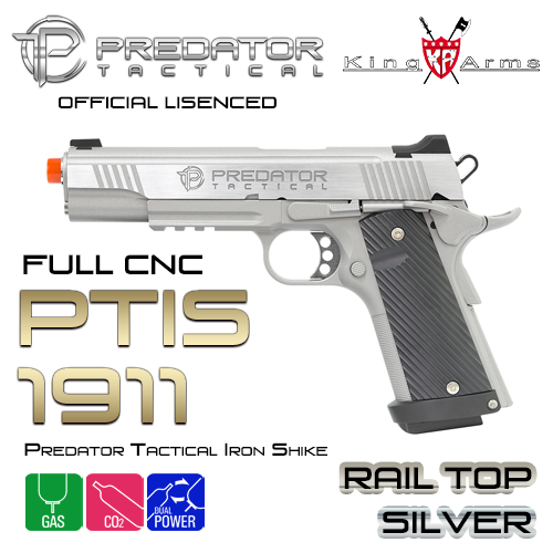 Predator Tactical Iron Shrike 1911 Rail Top / SV