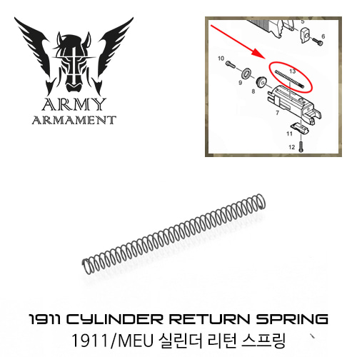 ARMY 1911 Cylinder Return Spring