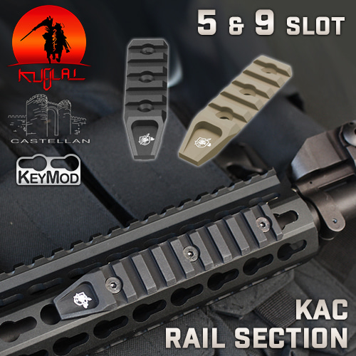 KAC Keymod Rail Section / 5&9 Slot