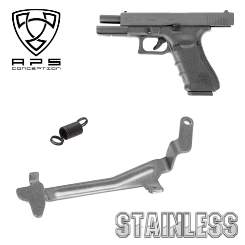 Glock 17 Reinforced Trigger Push Bar / Stainless