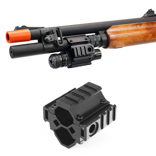 Universal Tri-Rail Barrel Mount With Laser Clamp