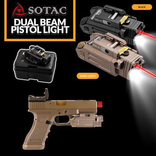 Dual Beam Pistol Light
