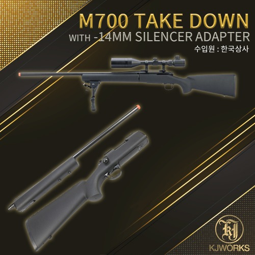 M700 Take Down with Silencer Adapter
