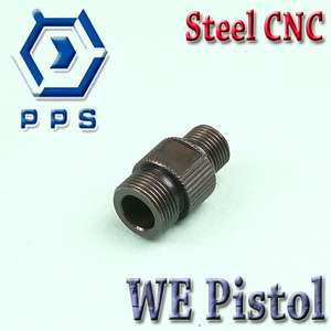 WE Pistol Silencer Adaptor / Steel CNC