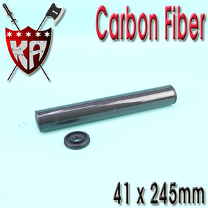 Carbon Fiber Silencer   41 x 245 mm