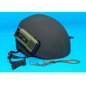 USMC Type Helmet with Electric Fan (Black)