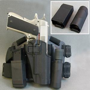 Flashlight & Double Magazin Pouch Set