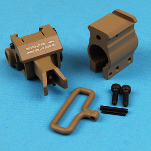 Front Flip up Gas Block Sight System/ Tan