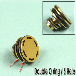 Double O Ring Piston Head / 6 Hole