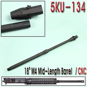 "18"" M4 Mid Length Barrel / CNC"