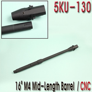 "16"" M4 Mid Length Barrel / CNC"