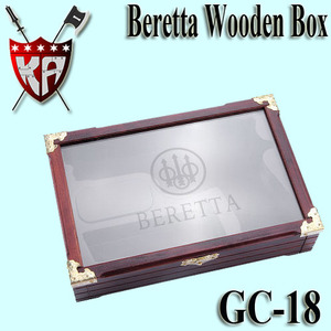 Beretta Wooden Box With Glass