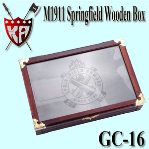 M1911 Springfield Wooden Box With Glass
