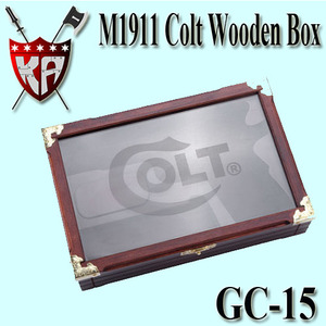 M1911 Colt Wooden Box With Glass