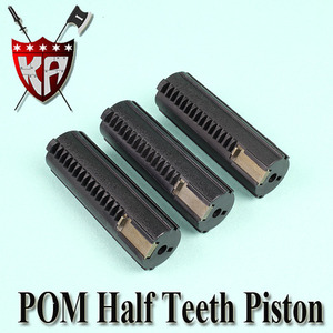 POM Half Teeth Piston (3 Pcs Bulk Pack)