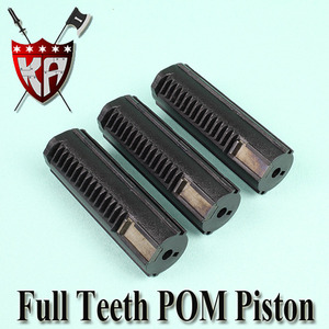 POM Full Teeth Piston (3 Pcs Bulk Pack)