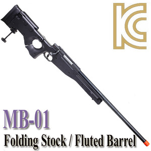 MB-08 BK / Folding Stock & Fluted Barrel