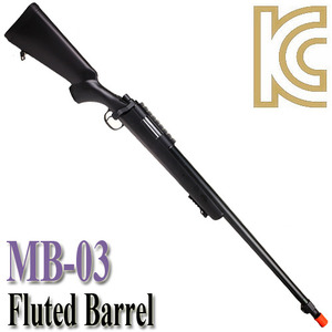 MB-03 Fluted Barrel / Black Color