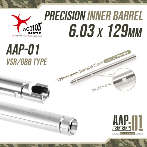 Precision Φ6.03 Inner Barrel / 129mm (AAP-01)