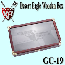 Desert Eagle Wooden Box With Glass